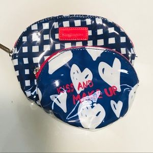 Bath Body Works Gingham Kiss Make Up Cosmetic Bag